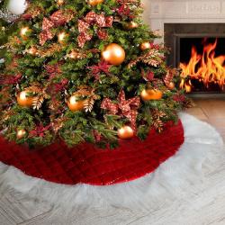 Снег под елку d-85см ткань ЛЬДИНКА 203255 красный