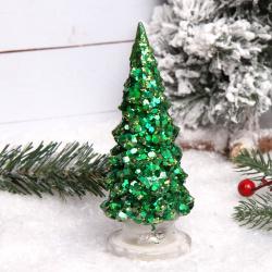 Фигура светодиодная Елочка 15см пластик ЛЬДИНКА 180469 зеленая
