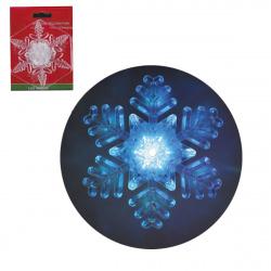 Фигура светодиодная Снежинка 9см пластик на присоске ЛЬДИНКА 170834