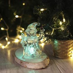Фигура светодиодная Снеговик 12см пластик ЛЬДИНКА 180474 LED