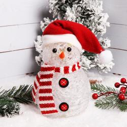 Фигура светодиодная Снеговик 16см пластик ЛЬДИНКА 170839/2  ассорти 2 вида