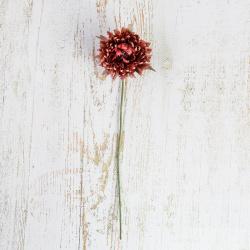 Украшение Цветок 35см пластик/текстиль ЛЬДИНКА 210045 фуксия