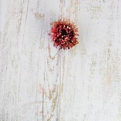 Украшение Цветок 65см пластик/текстиль ЛЬДИНКА 210055 фуксия