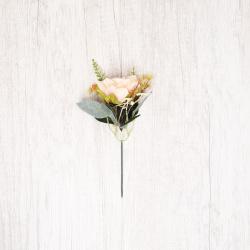 Украшение Цветок 20см пластик/текстиль ЛЬДИНКА 201092/EY19718X розовый