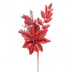 Украшение Цветок 40см пластик ЛЬДИНКА 183415/410329red красный
