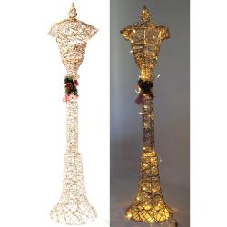 Фигура светодиодная Фонарь  30*120*27см, подсветка, металл, цвет золото ЛЬДИНКА 209934
