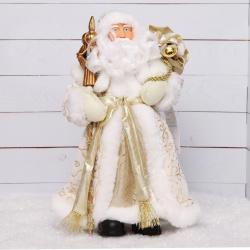 Украшение Кукла Дед Мороз 30см золотой костюм Феникс-Презент 80155