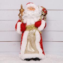 Украшение Кукла Дед Мороз 30см красный костюм Феникс-Презент 80153