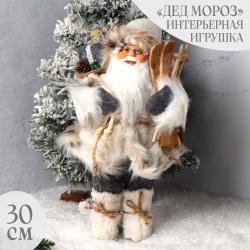 Украшение Кукла Дед Мороз 30см, золото ЛЬДИНКА 212394