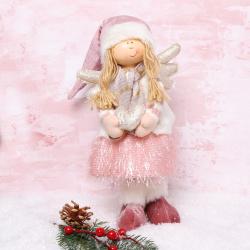 Украшение Кукла Девочка-ангел 35см ЛЬДИНКА 209920