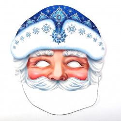 Маска карнавальная Деда Мороза Мир открыток 3-03-5081А