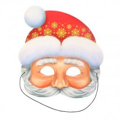 Маска карнавальная Дед Мороза картон Мир открыток 3-03-5065