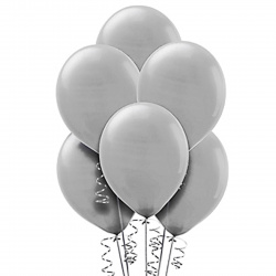 Шар воздушный 25см Macaroon Pastel КОКОС 210104 серый