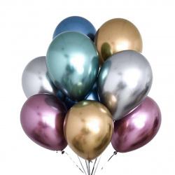 Шар воздушный латекс, 30см, цвет ассорти, 100шт Микрос Ч02195