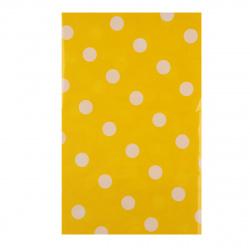 Скатерть 108*180 Горох полиэтилен НИКА 0416S0103_8 желтый