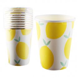 Стакан картон 250мл 10шт Lemon КОКОС 205579/1