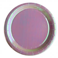 Тарелка картонная 18см, 10шт, ПВХ Aquarelle КОКОС 205567-1