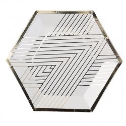 Тарелка картонная 20см, 10шт, ПВХ, европодвес Gold КОКОС 205582-1