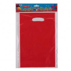 Пакет подарочный 16*25см ПВХ прорубная ручка НИКА 0416S0107_9 красный