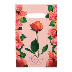 Пакет подарочный 20*30см ПВХ 30мкм Розовая дымка прорубная ручка 130260 упаковка 100шт