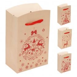 Коробка подарочная Happy New Year 15*18*9см, ассорти 4 вида, рисунок КОКОС 213291