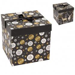 Коробка подарочная Magic Forest 22*22*22см, ассорти 4 вида, рисунок КОКОС 212984
