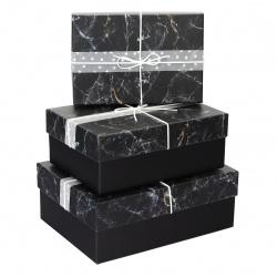 Набор подарочных коробок 3шт (28*20*9,5-22*16*6,5)  КОКОС 201642