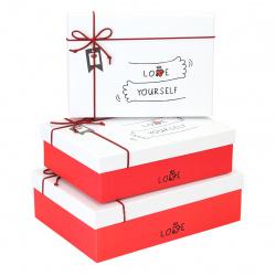 Набор подарочных коробок 3шт (18,5*18,5*9,3-15*15*6,2) КОКОС 201644 ассорти