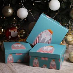 Набор подарочных коробок 3шт Забавные зверушки (22*11*11-18*9*9) КОКОС 200567 ассорти