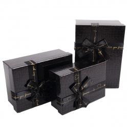 Набор подарочных коробок 3шт Croco (15*22*9-12*17*6) КОКОС 207418
