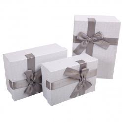 Набор подарочных коробок 3шт Croco (15*22*9-12*17*6) КОКОС 207419
