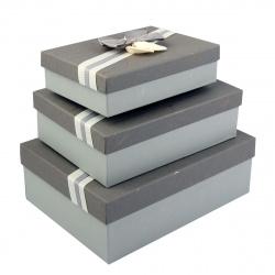 Набор подарочных коробок 3шт Classic Dewen (33*24,5*11,5-23,5*16,5*6,5) КОКОС 209366 ассорти 2 вида