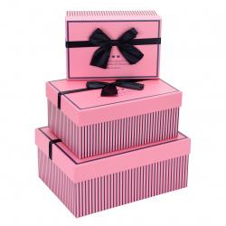 Набор подарочных коробок Style 3шт, 22*29*13-14*21*10см, розовый КОКОС 212940