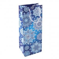 Пакет подарочный для бутылок 140*350*110мм, бумага, ламинация матовая, ручка шнурок, рисунок Мир открыток 10-50-5001А