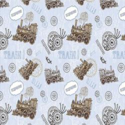 Бумага упаковочная 70*100 1 лист Паровозики Феникс-Презент 75207