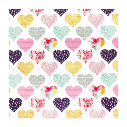 Бумага упаковочная 70*100 1 лист Сердца Феникс-Презент 81073