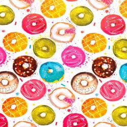 Бумага упаковочная 70*100 1 лист Пончики в глазури Феникс-Презент 81063
