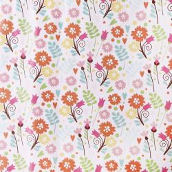 Бумага упаковочная 70*100 1 лист Цветы-1 Миленд 10-05-0018
