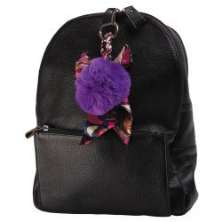 Брелок 11см Помпон мех текстиль deVENTE 9020711 фиолетовый