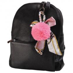 Брелок 11см Помпон мех текстиль deVENTE 9020708 розовый