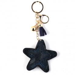 Брелок Сияние Звезда кожзам КОКОС 183601 синий