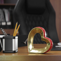 Декор керамика 15*15см Сердце КОКОС 183434
