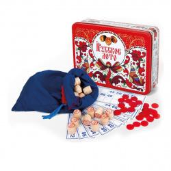 Игра настольная Русское лото Десятое Королевство Узоры металлическая коробка 01917