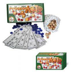 Сувенир Игра настольная Русское лото картонная коробка Десятое Королевство 00037 зеленое