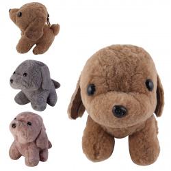 Мягкая игрушка-брелок 14см Собака натуральный мех  КОКОС 171086/2