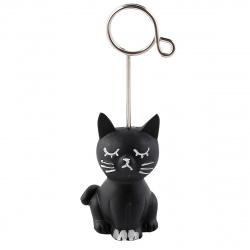 Держатель для визиток и фото пластик 10см Черный кот КОКОС 183385/CB15591B