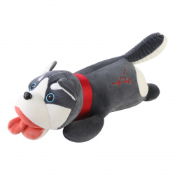 Подушка-игрушка Хаски 50см, полиэстер, холлофайбер КОКОС 210163