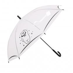 Зонт полуавтоматический, ПВХ, диаметр 90см, высота 73см, трость, ассорти 4 вида Animals КОКОС 211311