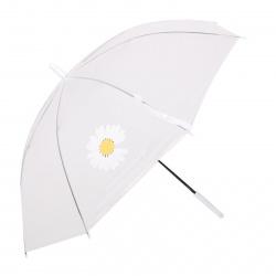 Зонт полуавтоматический, ПВХ, диаметр 90см, высота 73см, трость, ассорти 3 вида Ромашки КОКОС 211312