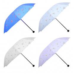 Зонт механический, полиэстер, диаметр 96см, высота 65см, складной, ассорти 5 видов Butterfly КОКОС 207393